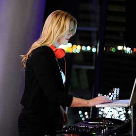female wedding DJ